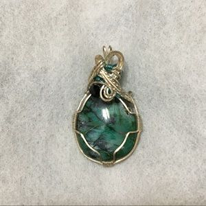 Vintage silver and turquoise pendent